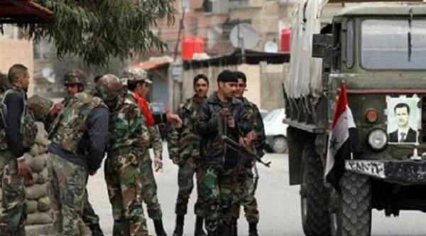 مقتل 5 واصابة 5 من جنود الجيش السوري في انفجار سيارة