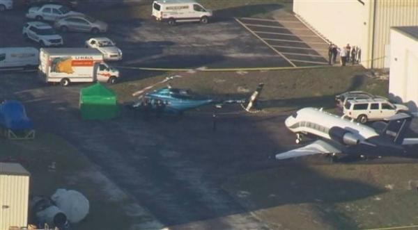 مروحية تقطع رأس شخص بأحد مطارات فلوريدا