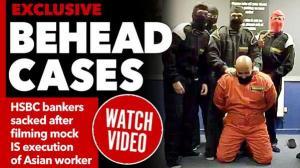 """فيديو ذبح """"داعشي"""" يتسبّب في فصل 6 موظفين في بنك بريطاني"""