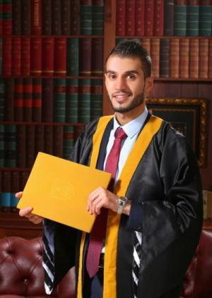 المحامي احمد النوافله مبارك التخرج