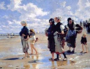ذاكرة قماش.. «صائدات المحار على شواطئ كانكال» لجون سنغر سارجنت