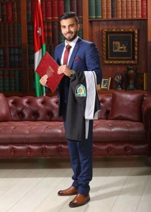 يوسف احمد يوسف النعيمات يحصل على مرتبة الشرف في المحاسبه