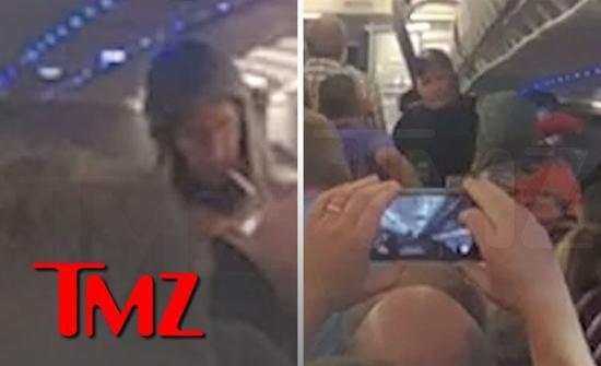 بالفيديو: راكب يشعل سيجارة حشيش على متن طائرة أمريكية ..  وهكذا تعامل معه قائد الطائرة