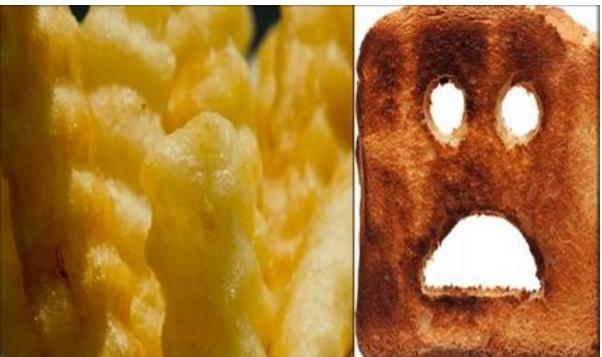 الخبز والبطاطا المقرمشان يسببان