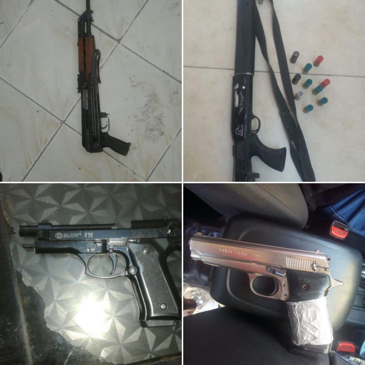 بالصور ..  القبض على 22 شخصا قاموا باطلاق عيارات نارية في مختلف مناطق المملكة وضبط 21 سلاحا نارياً