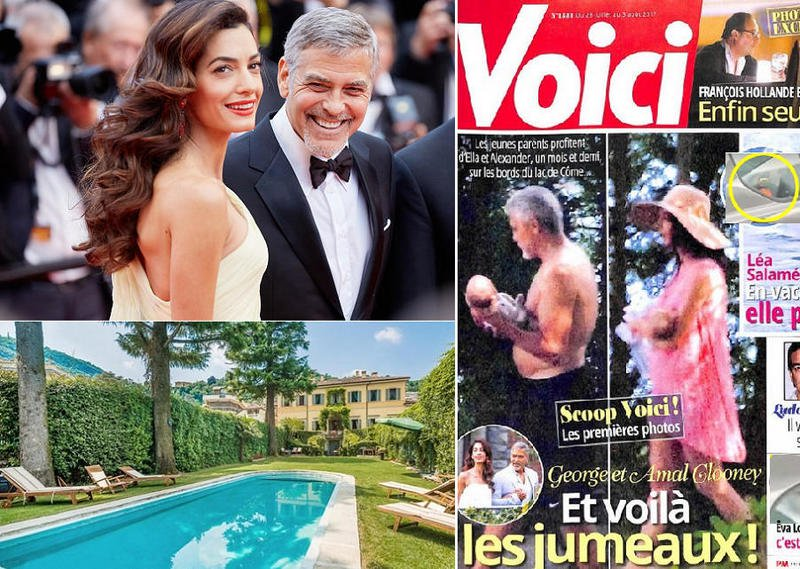 جورج كلوني يقاضي مجلة نشرت صورة توأميه الأولى