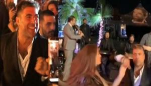 بالفيديو  .. هكذا فاجأت سيرين عبد النور وائل كفوري في عيد ميلاده