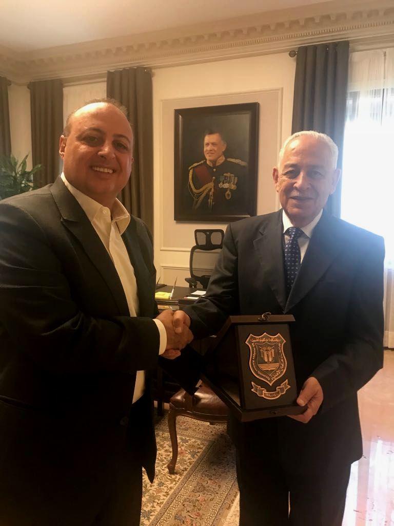 رئيس الديوان الملكي الهاشمي يستقبل رئيس هيئة المديرين لجامعة عمان الاهلية