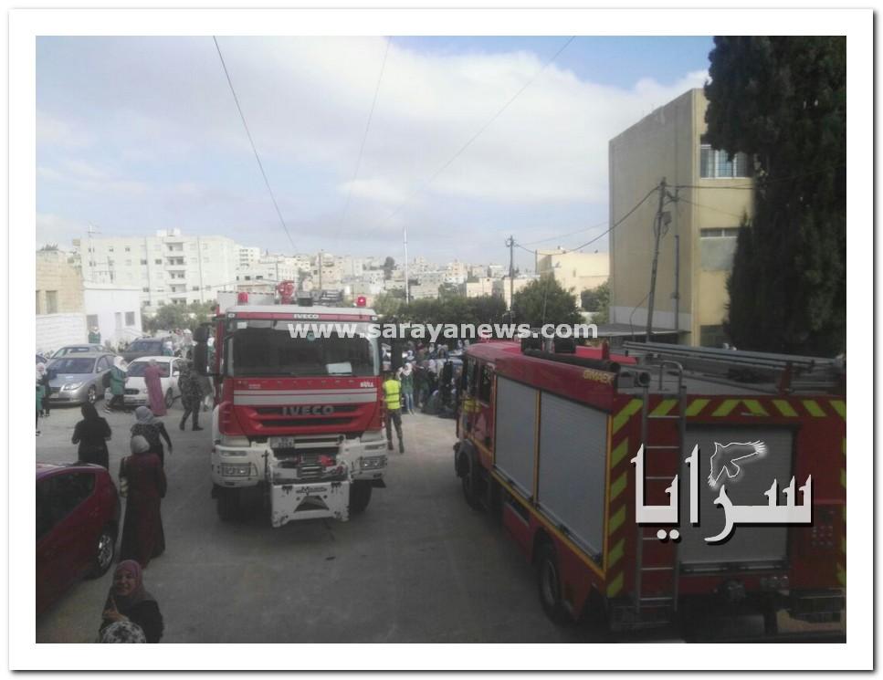 اربد : بالصور ..  اخلاء مدرسة ايدوان الثانوية نتيجة تسرب غاز وإصابة ثلاثة طالبات