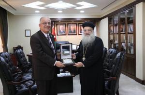 رئيس جامعة الزيتونة الأردنية يستقبل رئيس طائفة الأقباط الأرثذوكس في الأردن