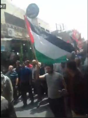 الزرقاء: انطلاق مسيرة حاشدة تضامنا مع الشعب الفلسطيني