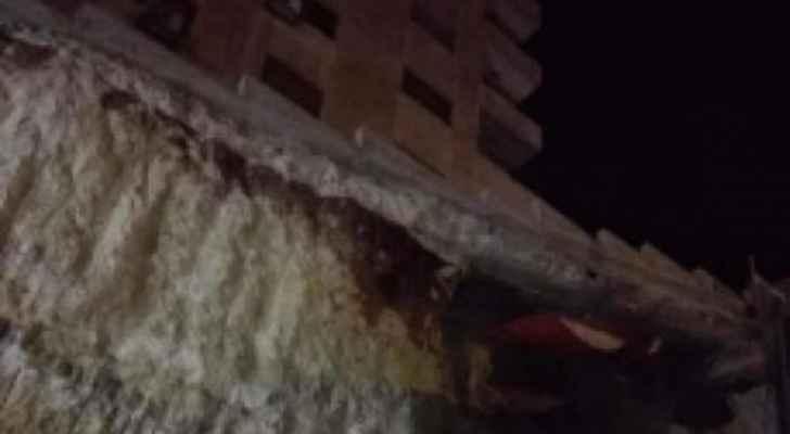 الأمانة: لا إخلاء لأي شقق في مبنى مجاور لحفرية إثر انهيار جزئي في عمان