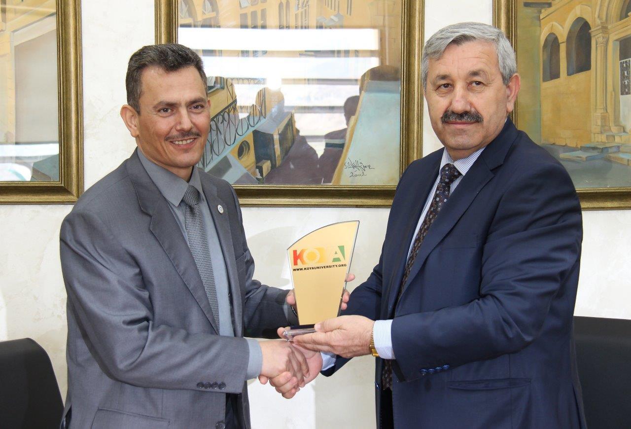توقيع مذكرة تعاون بين جامعة عمان العربية وجامعة كويه في إقليم كوردستان