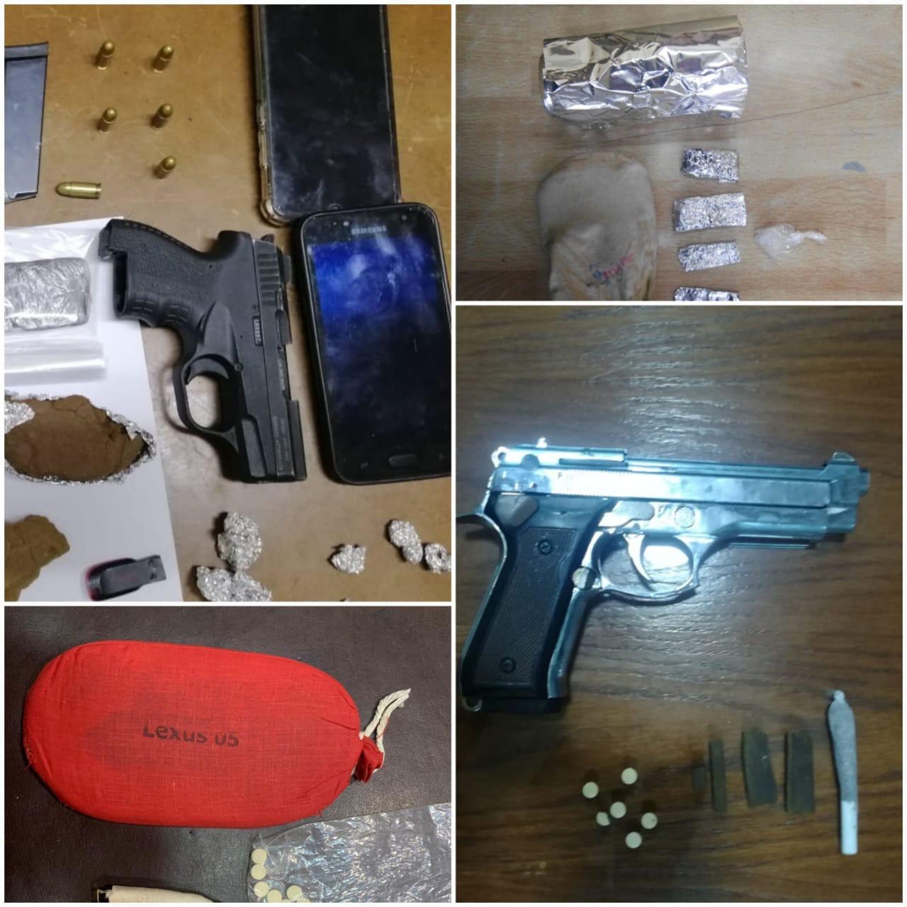بالصور  ..  الامن يلقي القبض على  29 مروجا للمخدرات والاسلحة من بينهم مصنف خطير