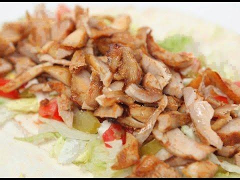 شاورما دجاج سهله ولذيذه