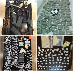 بالصور  .. القبض على (14) شخصاً من مروجي المخدرات بحوزتهم (12) سلاح ناري