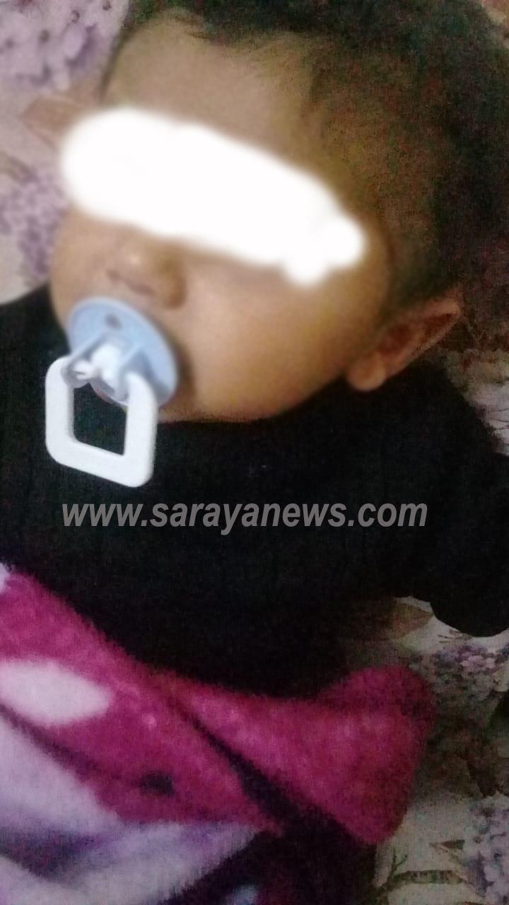 بالصور .. طفلة اردنية بحاجة الى حليب ..  الأب مريض لا يستطيع العمل والبيت بلا كهرباء بسبب تراكم الفواتير