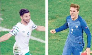 """فرنسا تسعى للعبور إلى ربع النهائي عبر """"الغاضبة"""" ايرلندا"""