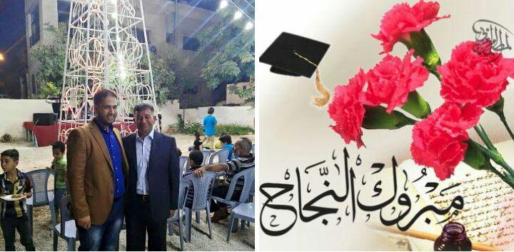 تهنئة للمحامي نايف الدعجة بمناسبة نجاح ابنيه في الثانوية