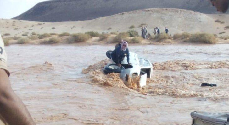 السعودية تشكر الأردن لانقاذ قوات البادية 4 سعوديين جرفتهم السيول