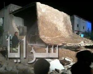 انفجار اسطوانة غاز  يؤدي الى انهيار منزل في اربد