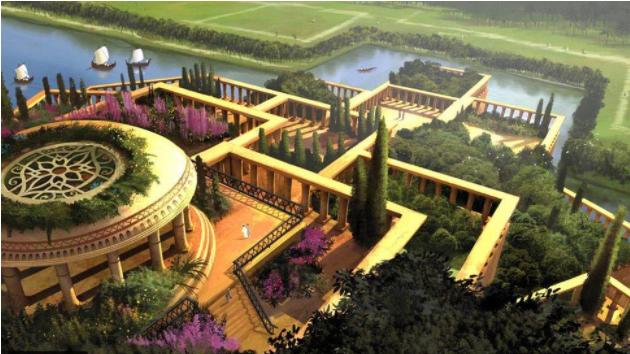 بالصور  ..  حدائق بابل المعلقة