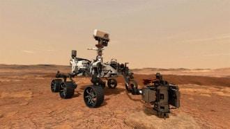 """بحثا عن آثار حياة قديمة ..  الروبوت الجوال """"برسفيرنس"""" يقترب من سطح المريخ  .. صور"""