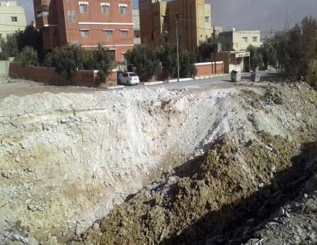 حفريات الصرف الصحي تهدد حياة الأطفال في معان