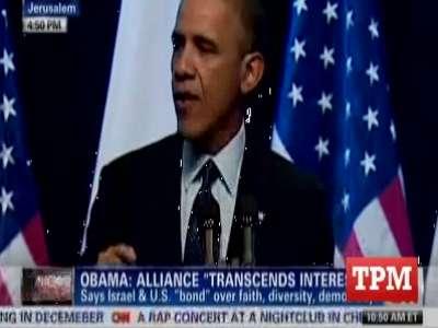 بالفيديو  ..  طالب فلسطيني يقاطع أوباما في القدس ويصرخ : لماذا جئت الى هنا ؟
