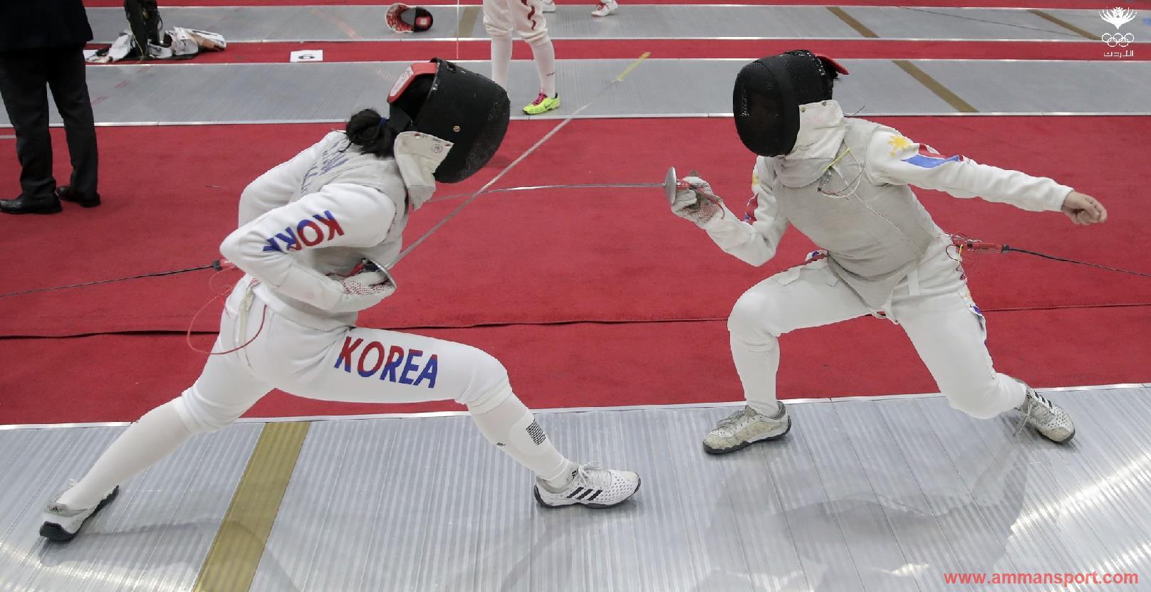 اللاعبة المنسي تحرز ذهبية الدوري الآسيوي للمبارزة