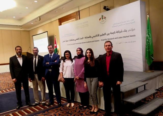 """جامعة عمان الاهلية تشارك بفعالية في مؤتمر """"بناء شراكة ناجحة بين التعليم الاكاديمي والصناعة – البحث العلمي ومتطلبات ىسوق العمل """""""
