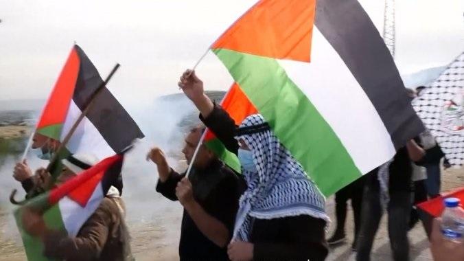 إصابة العشرات بعد قمع قوات الاحتلال لتظاهرة في الأغوار الشمالية بفلسطين المحتلة
