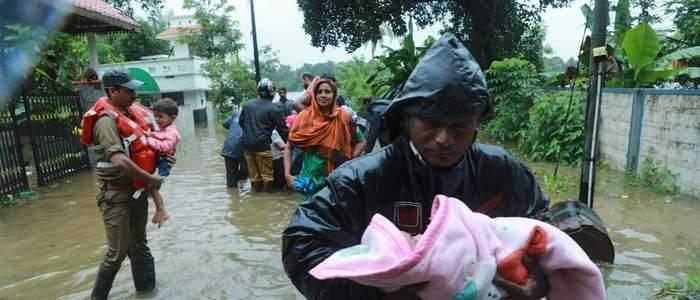 مقتل 147 شخصا في فيضانات الهند