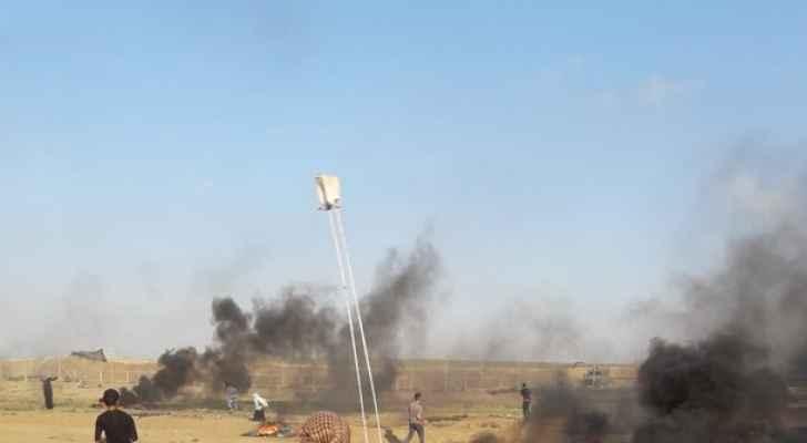 189 اصابة على حدود غزة