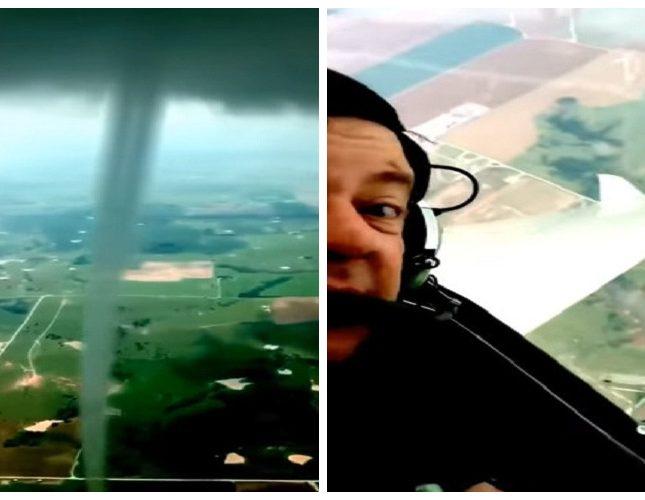 """فيديو مرعب  ..  طيار أمريكي يدخل قلب إعصار """"التنين"""""""