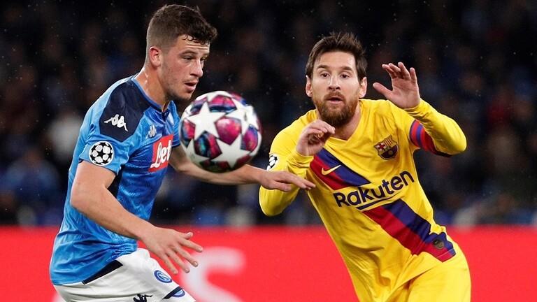 بالفيديو .. التعادل الإيجابي يحسم قمة برشلونة ونابولي في دوري الأبطال