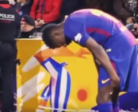بالفيديو .. الإصابة تعاود ديمبيلي في مباراة برشلونة و إسبانيول