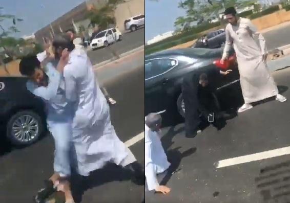 بالفيديو  ..  غضب في السعودية بسبب ضرب امرأة ومسن على الطريق العام