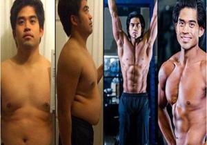 بالصور .. لن تصدّق كيف تحول جسم هذا الشاب في 12 أسبوعاً فقط!