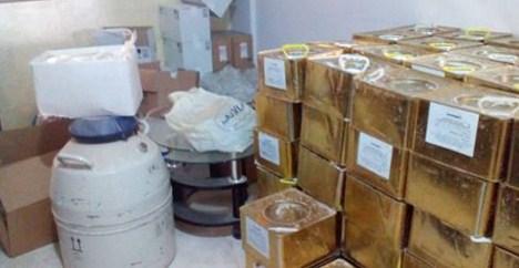 ضبط ادوية بيطرية منتهية الصلاحية داخل صيدلية في الضليل