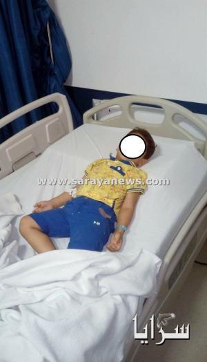 بالصور.. إدخال طفل للمستشفى نجا بأعجوبة من خطر الكهرباء المعراة في الشوارع بالعقبة