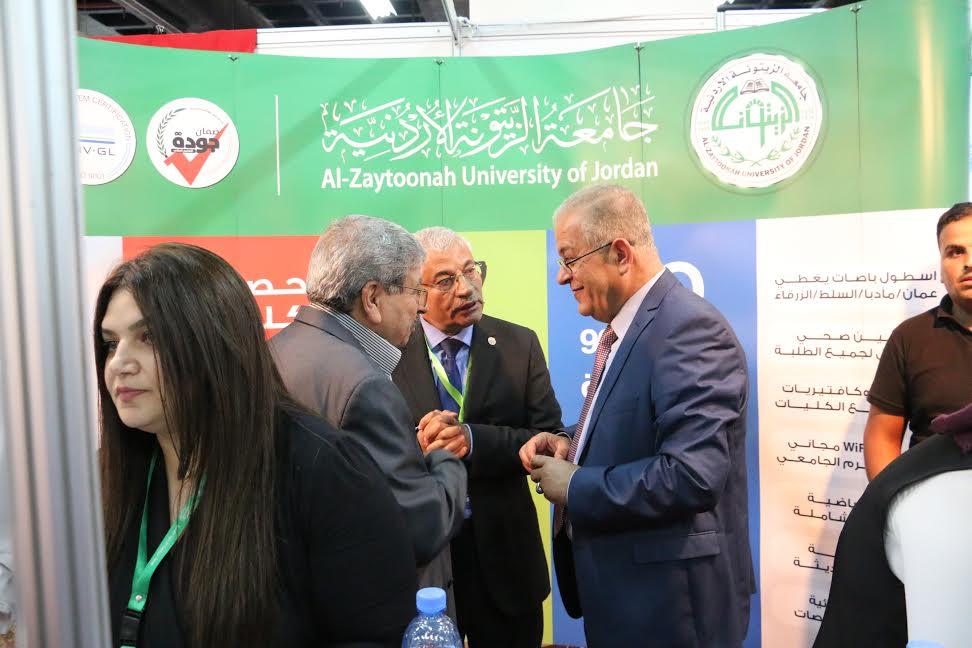 جامعة الزيتونة الأردنية تشارك في معرض( آت لاختياري 7)
