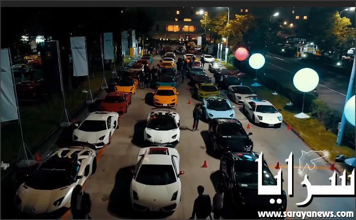 بالفيديو .. 80 سيارة لامبورجيني تتباهى بنفسها في وسط طوكيو