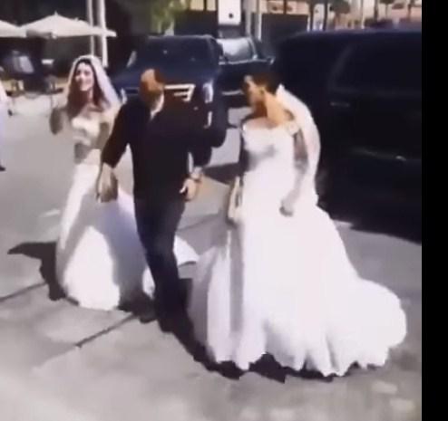بالفيديو  ..  بروفة لزفة زواج كاظم الساهر وسط (20) عروساً
