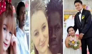 بالفيديو  ..  أغرب 7 أزواج وزوجات أثبتوا أن الحب أعمى