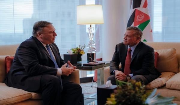 الملك يؤكد لبومبيو ضرورة وقف العدوان على غزة