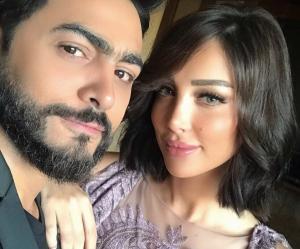 بالصور .. كيف احتفلت بسمة بوسيل بعيد ميلاد زوجها تامر حسني