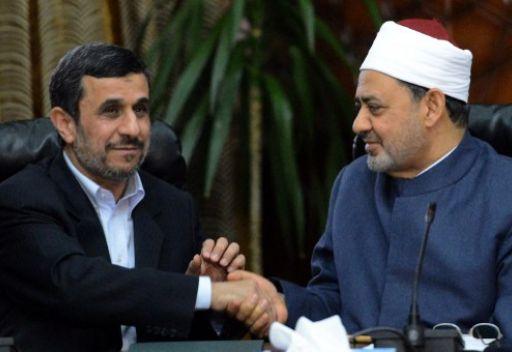 شيخ الأزهر في لقاء مع أحمدي نجاد يرفض التدخل الشيعي في الدول السنية