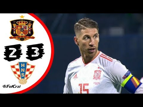 بالفيديو ..  شاهد ملخص مباراة اسبانيا و كرواتيا 2-3  .. هدف قاتل بالدقيقة 90+3