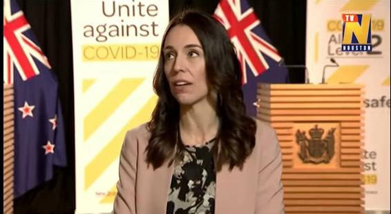 بالفيديو ..  شاهد ردة فعل رئيسة وزراء نيوزلندا بعد أن ضرب زلزال مبنى البرلمان خلال كلمة لها